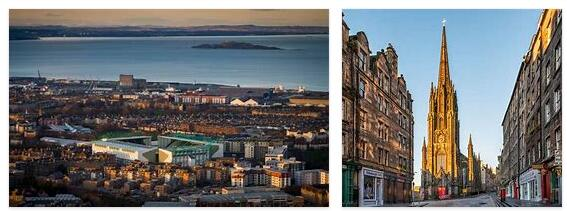 Highest point of the sun in Edinburgh